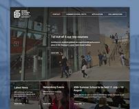 University of Essex Summer School Website Design