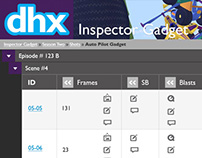 DHX media animation web application interface