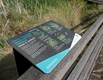 Percy Treyvaud Memorial Park Wetlands signage