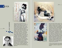 Artist Jaya Suberg published in a Romanian Art Magazine
