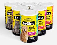 Bellino Kedi ve Köpek Maması Etiket ve Logo Tasarımları