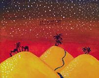 Acrylic Painting: Dazzled Desert