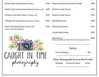 Photography Pricing Guide