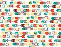 Geometric Scrapbook Paper Designs