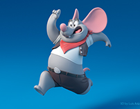 Cartoon 3d mouse model
