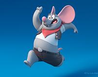 Cartoon 3d mouse model
