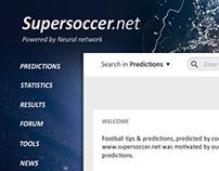 UX/UI design for a soccer prediction website