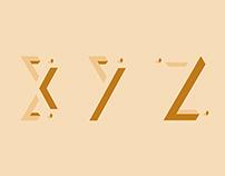 Omni Isometric Typeface