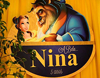 Identidade Visual e Papelaria para a festa A Bela Nina