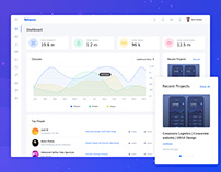 Dashboard concept of Behance