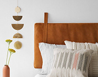 THE CITIZENRY // HANGING LEATHER HEADBOARD