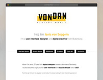 vondan Digital Media - Portfolio Site