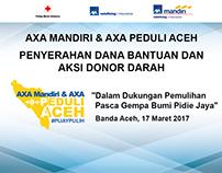 AXA Mandiri & AXA Peduli Aceh Backdrop & Mock Up Design