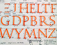 Broad nib calligraphy exemplar