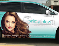 Primp and Blow Full Car Wrap