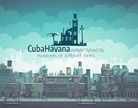 CubaHavana Cartoon Low Poly Modular City