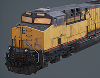 Low poly Union Pacific locomotive