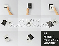 A6 Flyer / Postcard Mockup | Free Download