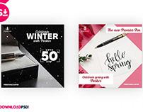 Winter & Spring Pen social Media
