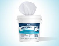 Diseño de etiqueta para WINNER WIPE, paños industriales