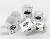Free* Paper Food Packaging Mockup Bundle