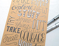 Handlettered Notebook Covers
