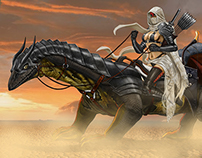Desert Huntress w/ Mount