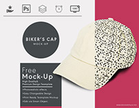 Biker's cap free photoshop mockup template