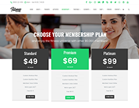 Pricing - Membership page - Fitness WordPress Theme