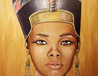 Regina egizia - 2017 Olio su Juta. 60x80