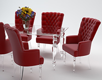 """Armchair """"Red"""". 3D modeling and visualization."""