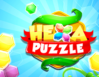 Hexa Puzzle - Block Mania game UI design