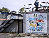 Mural en HidroARTE - Ciudad de México.