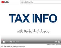 Videos about tax matters - Richard Sam Lehman, Tax