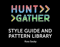 Hunt Gather - Style Guide and Pattern Library