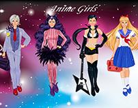 Fashion 2D Game Illustrations