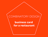 Combinatory Design - business card for a restaurant