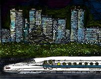 panorama Series Shin-Osaka Station~night~