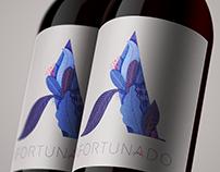 Afortunado Wine label design.