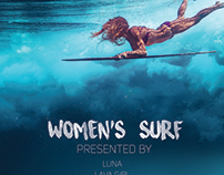 Women's Surf Poster Design