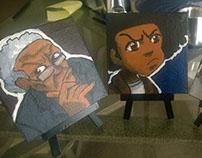 Mini Canvas Paintings of the Boondocks