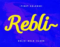 Rebli - free font