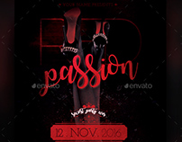 Red Passion Flyer Template