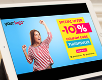 Clean voucher template | Free PSD