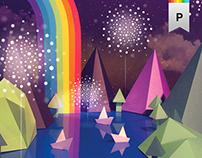 Festival of Lake - Poster design
