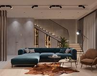 Дизайн интерьера таунхауса в КП Футуро Парк