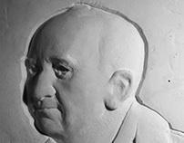 Bas-relief portraits,plaster model