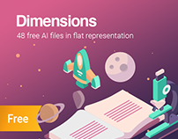 Dimensions 48 Free 3d high quality isometric shapes