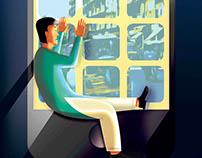 Anti Mobile Addiction illustration