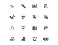 Kindergarten Icons Set 01